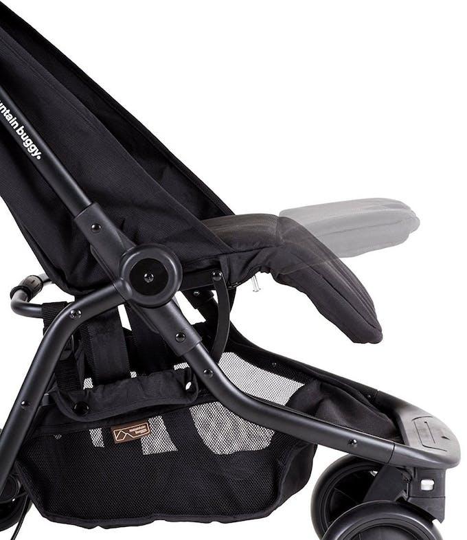 Poussette Nano V2 de Mountain Buggy - repose-jambes réglable