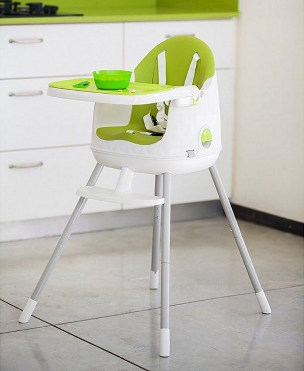 Chaise haute Multi Dine de Babytolove - stable stabilité vert lime