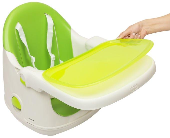 Chaise haute Multi Dine de Babytolove - plateau amovible lavable vert lime