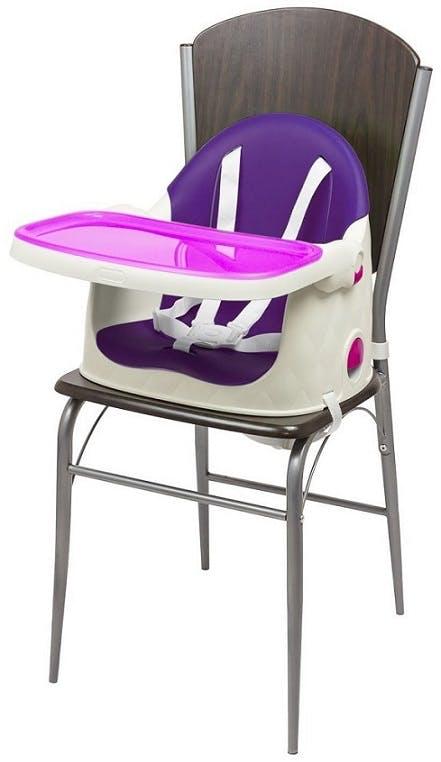 Chaise haute Multi Dine de Babytolove - réhausseur de chaise violet