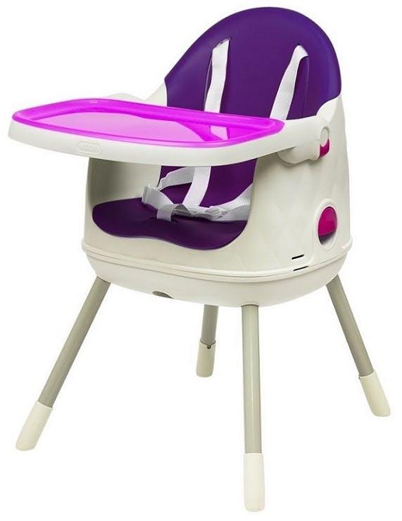 Chaise haute Multi Dine de Babytolove - chaise siège enfant violet