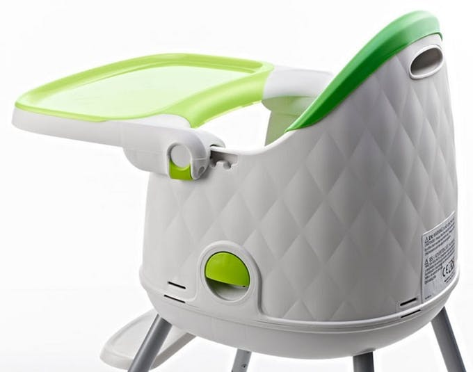 Chaise haute Multi Dine de Babytolove - poignée de transport vert lime