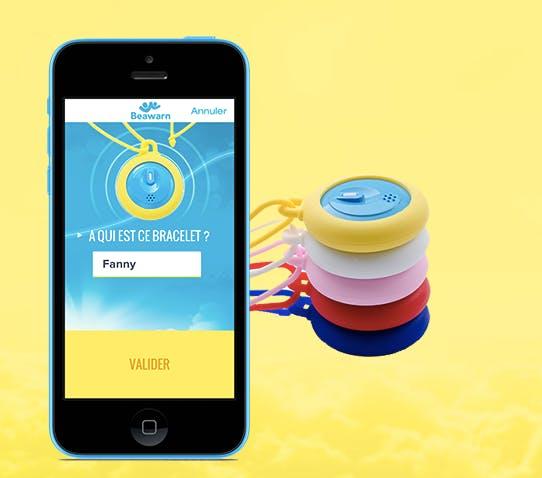 Beawarn application mobile et collier