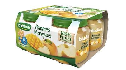 petits pots bledina pommes mangues 100 % fruits