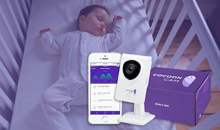 Cocoon Cam, le babyphone nouvelle génération qui surveille à la fois les mouvements et la respiration de bébé.