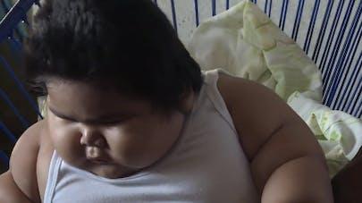 Luisito, bébé mexicain de 10 mois pesant 28 kg