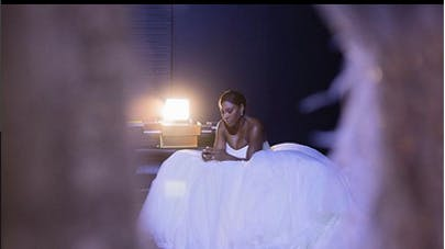 Serena Williams en robe de mariée