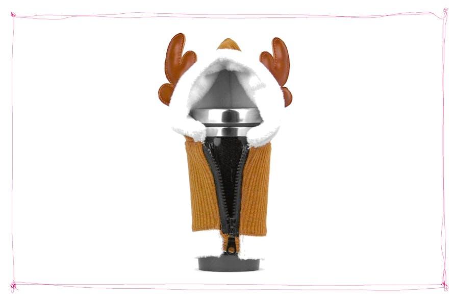mug isotherme en forme de cerf