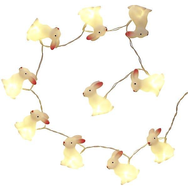 Guirlande lumineuse lapins de Pâques