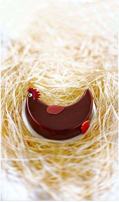 poule en chocolat