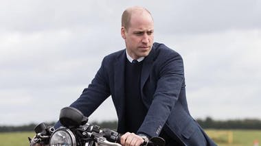 William sur sa moto