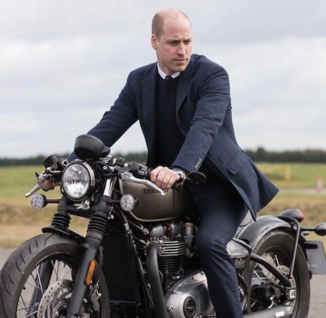 William sur sa moto