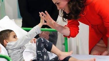 Kate Middleton a l'hôpital avec un enfant malade