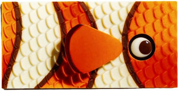 Poisson-clown en chocolat Pâques