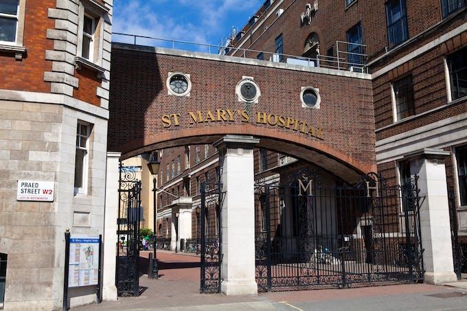 st Mary's hospital Londres