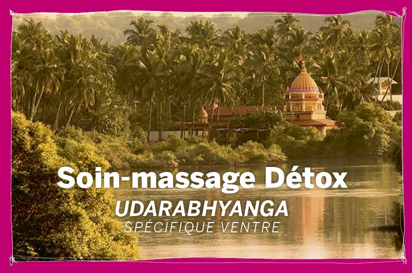 Soin-massage Détox Udarabhyanga, spécifique ventre