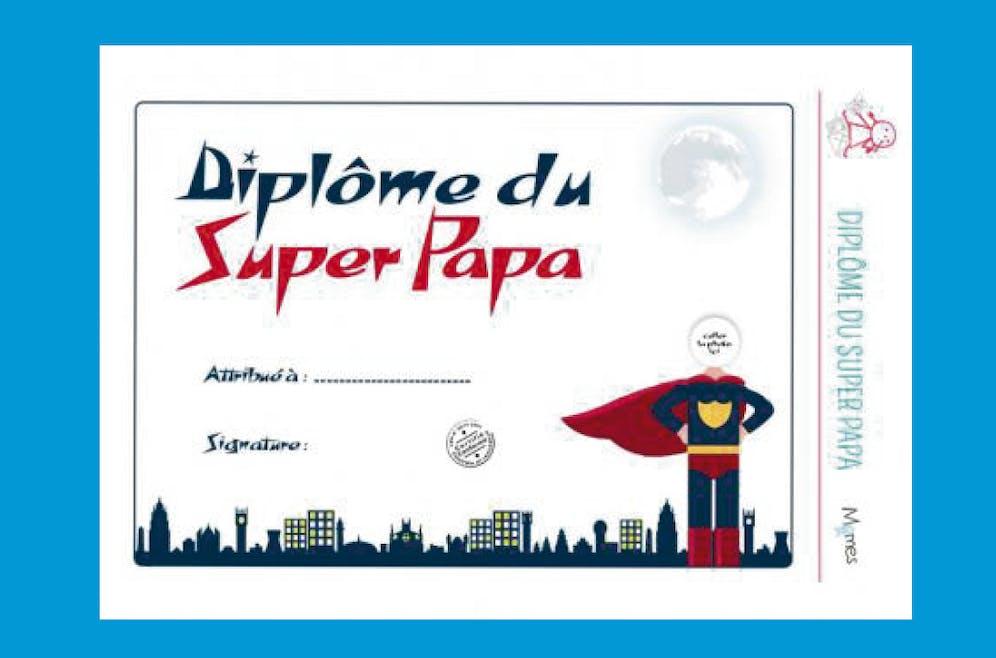 Diplôme du Super-papa pour Fête des pères