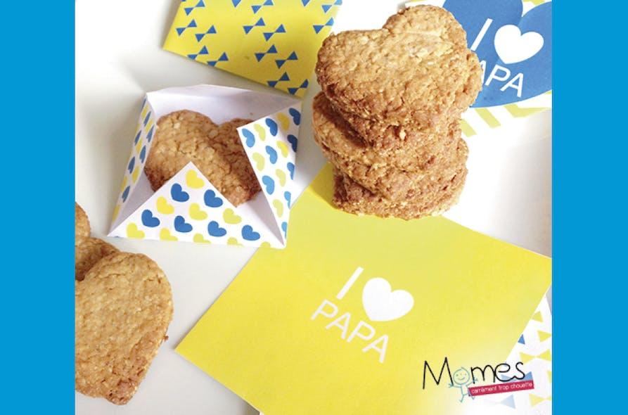 Biscuits-cœurs pour Fête des pères