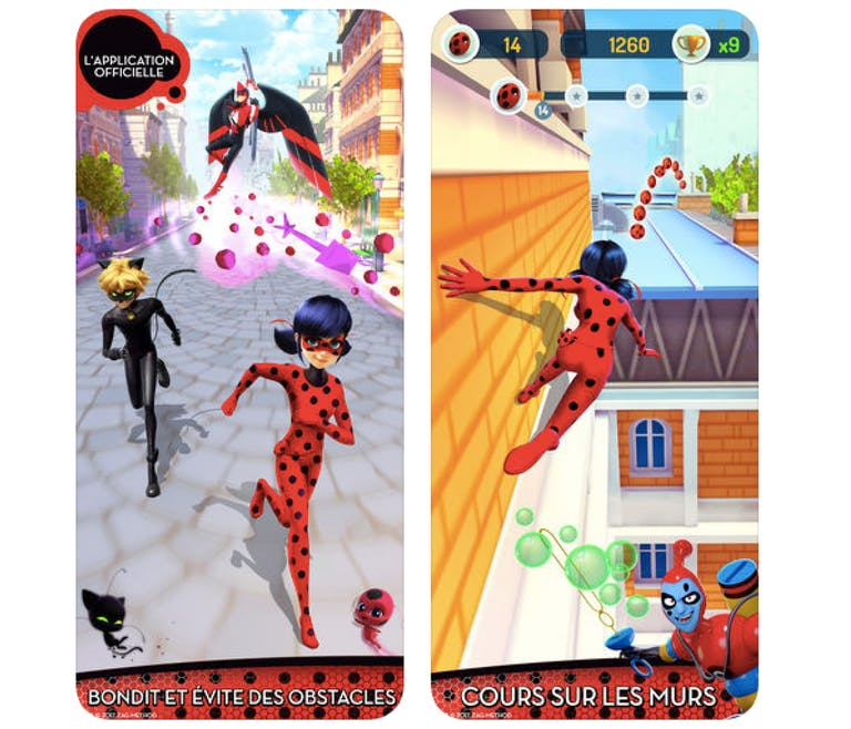 Application Miraculous Lady Bug et Chat noir
