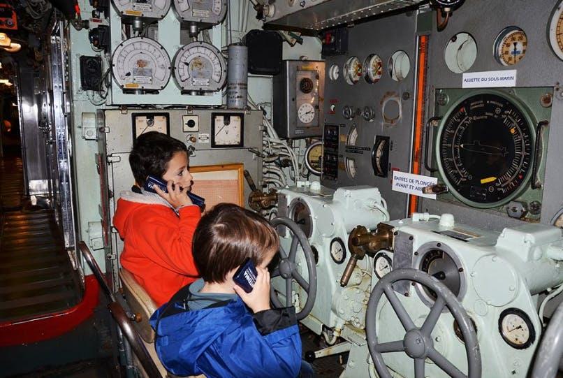 Le sous-marin Espadon à Saint-Nazaire