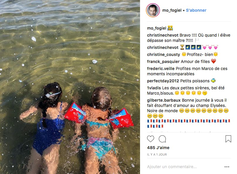 Marc-Olivier Fogiel bulle avec ses filles