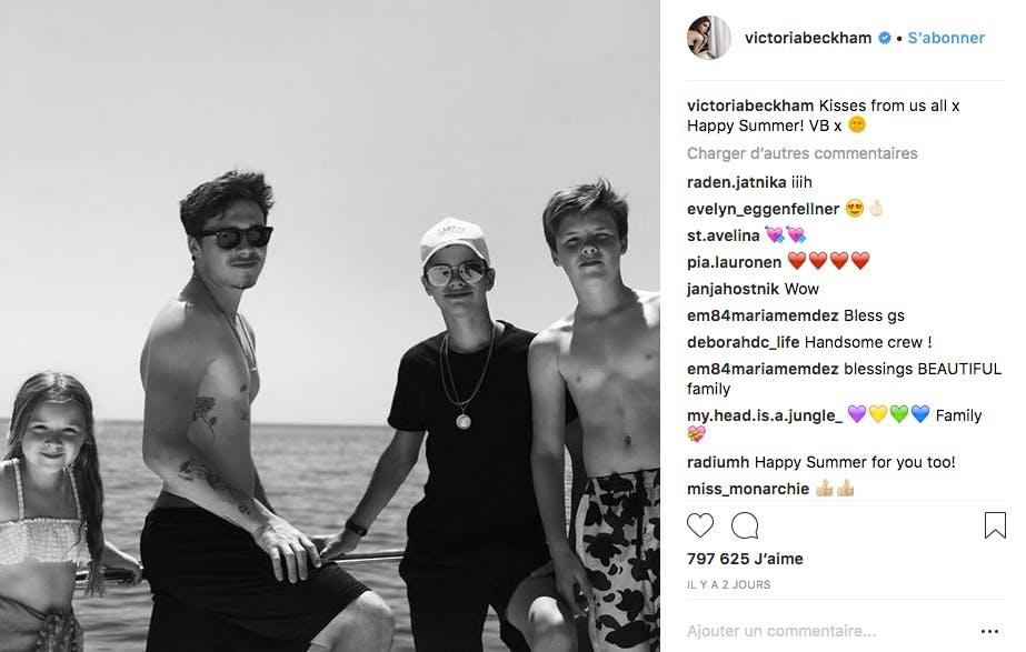 Victoria Beckham fière de ses quatre enfants