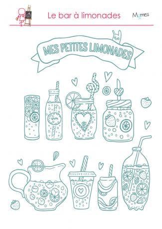 Coloriage : Mes petites limonades Momes