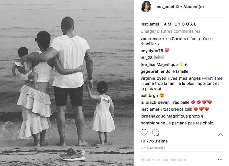 Amel Bent : une adorable photo de famille