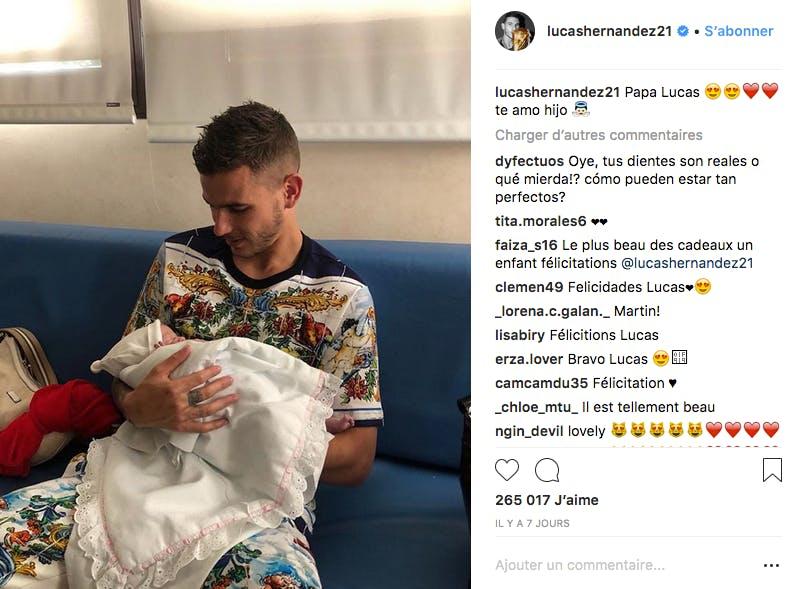 Au début du mois d'août le footballeur a accueilli un petit Martin