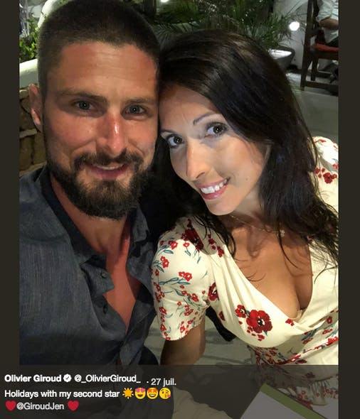 Moment complice pour Olivier Giroud et sa femme Jennifer
