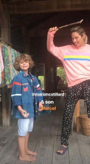 Photo rare de Marion Cotillard et de son fils Marcel