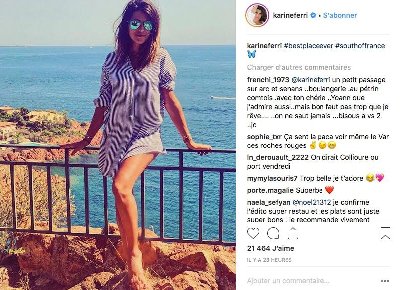 Tout comme Karine Ferri qui nous ferait presque oublier qu'elle a accouché un mois plus tôt
