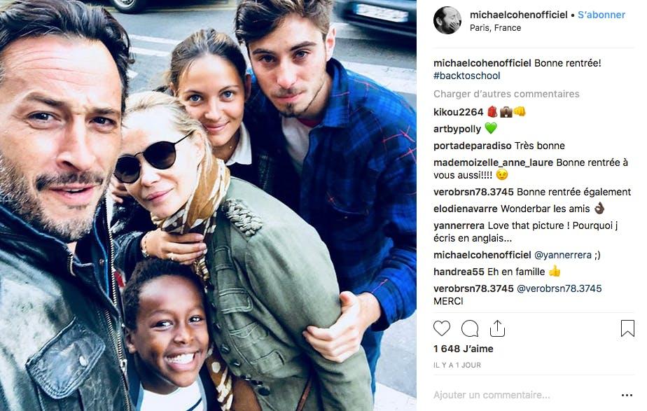 Emmanuelle Béart entourée de ses 3 enfants et de son ex-compagnon