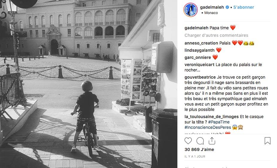 Gad Elmaleh à Monaco pour profiter un peu de son fils Raphaël