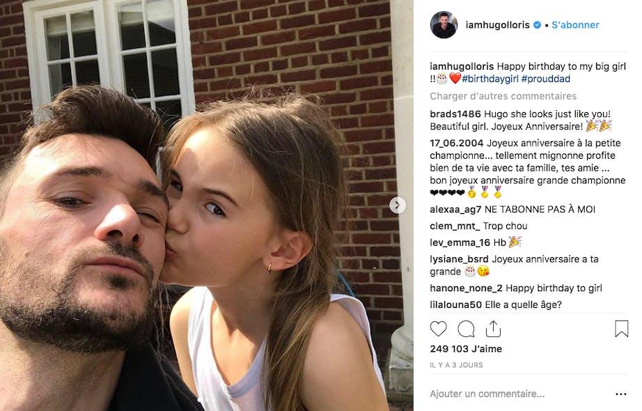 Le goal des Bleus, Hugo Lloris, fête les 8 ans de sa fille Anna-Rose