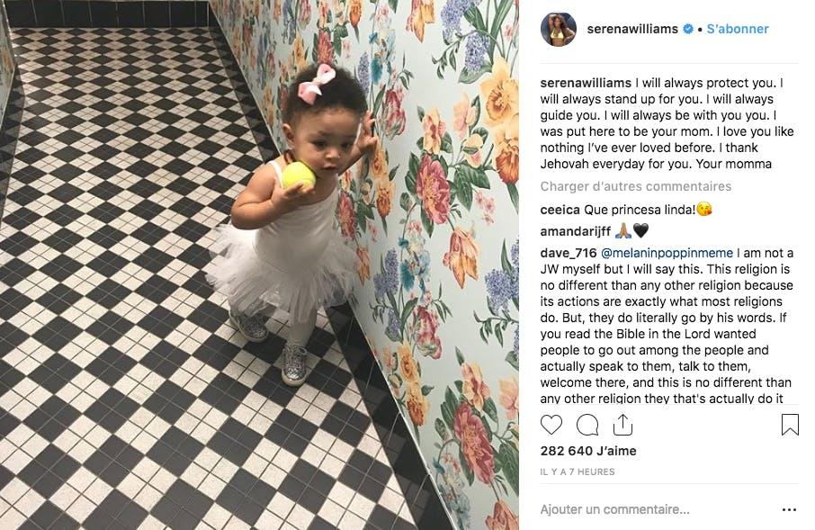 La fille de Serena Williams : vous avez dit trop chou ?