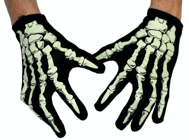 Paire de gants squelette pour Halloween