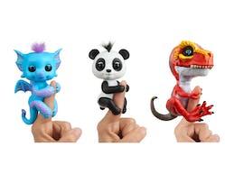 nouveaux Fingerling dragon bleu, panda et dinosaure