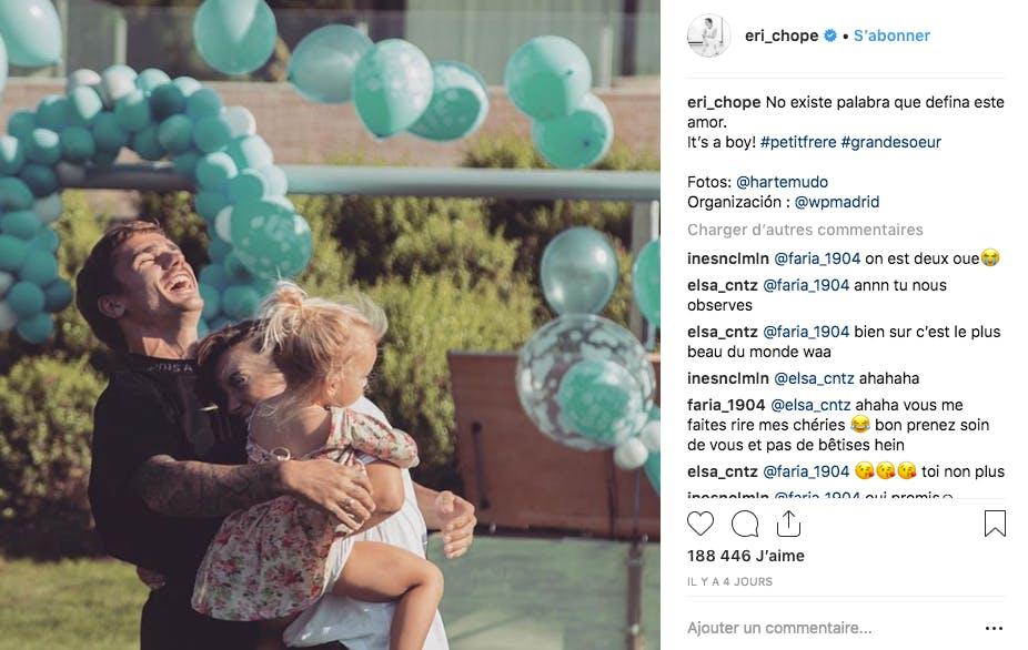 La famille d'Antoine Griezmann fête l'arrivée prochaine d'un petit garçon !