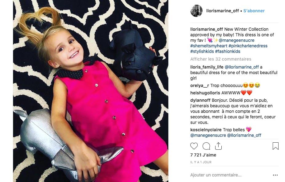 La fille d'Hugo Lloris, mannequin de choix pour présenter sa collection de vêtements de sa maman