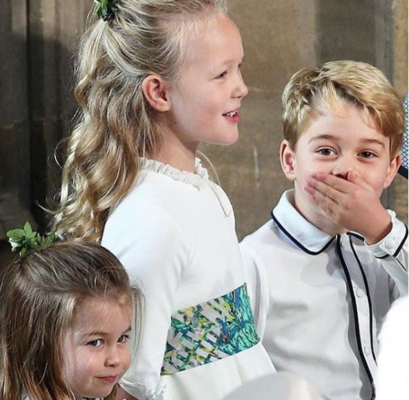 George et Charlotte enfants d'honneur