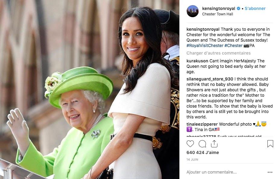 En beige, pour l'anniversaire de la Reine d'Angleterre mi-juin