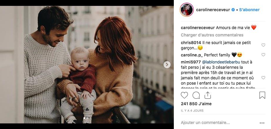 Caroline Receveur a reçu beaucoup de critiques pour ses choix de maman, elle assume