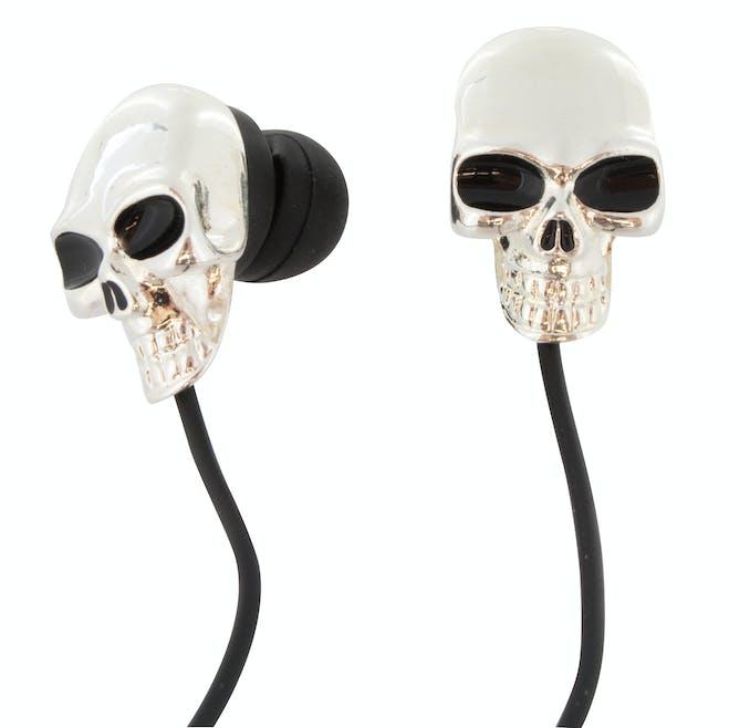 écouteurs tête de mort Halloween