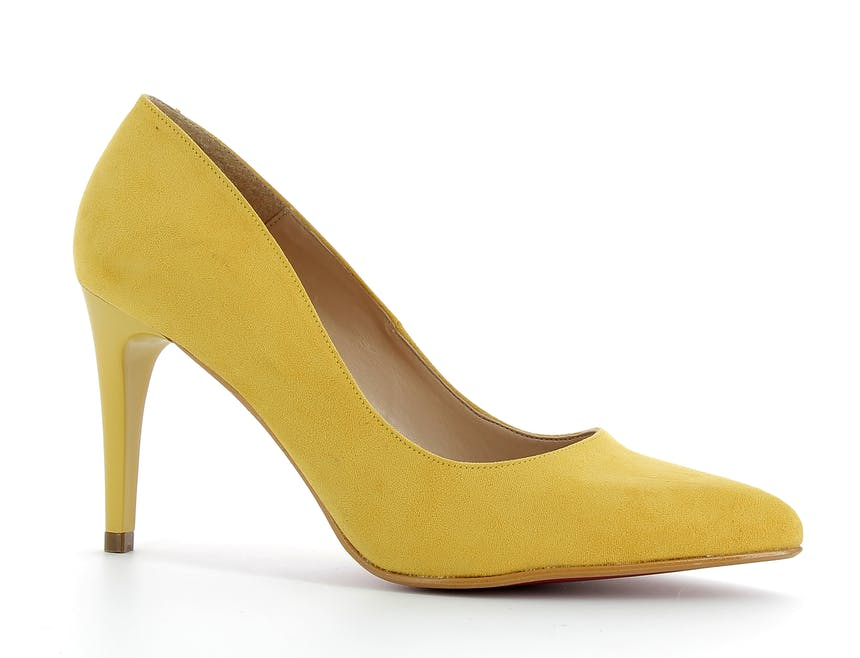 escarpins jaune moutarde