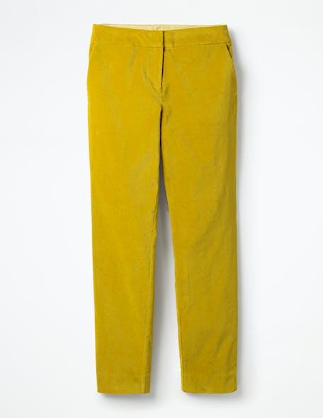 Pantalon fille jaune moutarde