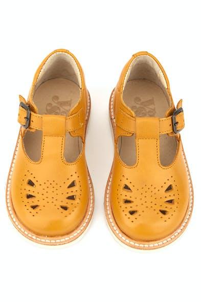 Sandales couleur moutarde