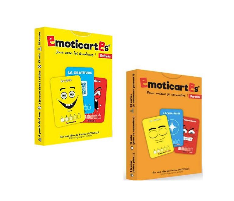 jeu les emoticartes pour la gestion des émotions enfants et parents