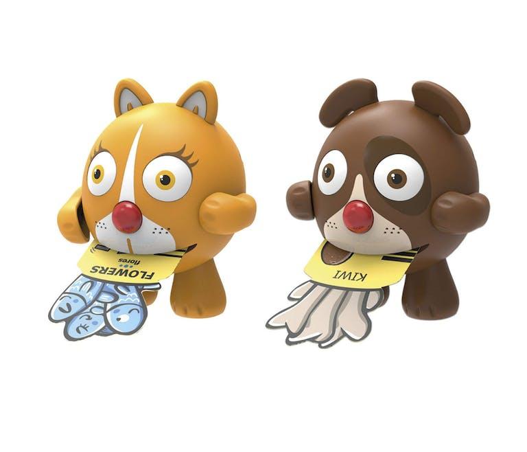 les animalins chien et chat pour apprendre les lettres et l'anglais