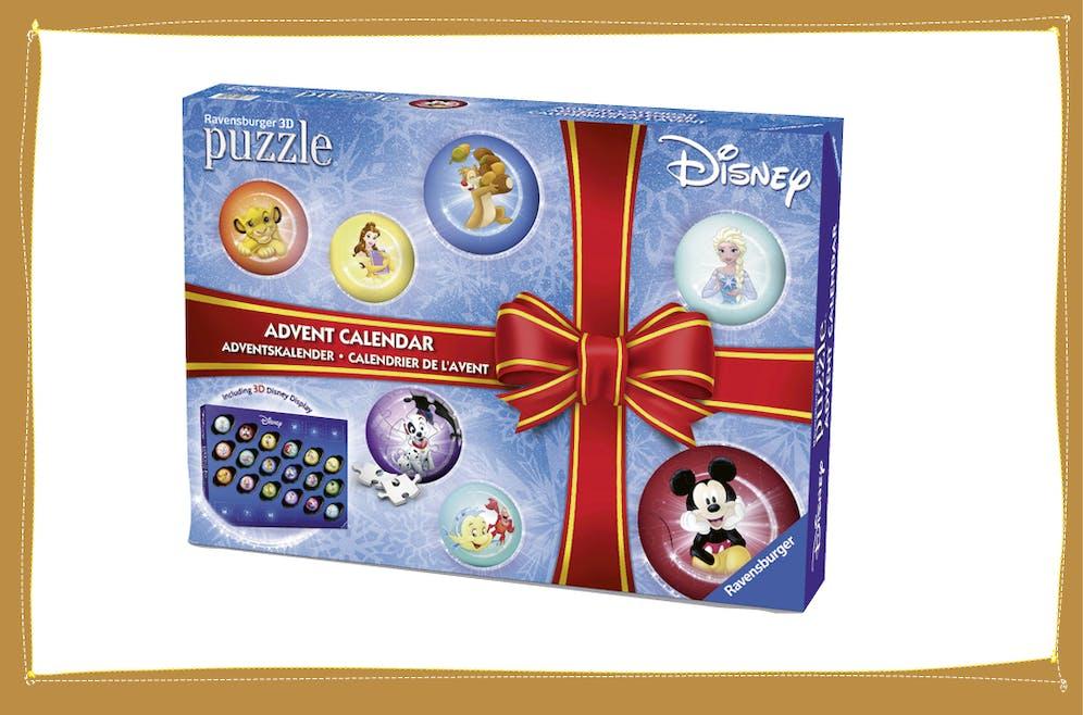 Calendrier de l'Avent puzzles Disney